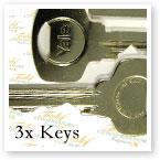3 x Keys