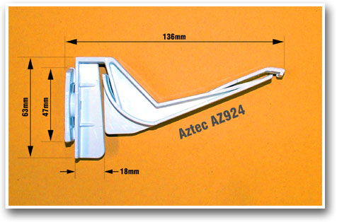 Aztec AZ924 Gutter Bracket Size Measurements