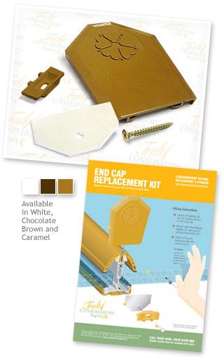 5 X Ultraframe End Cap Replacement Kit Roof Glazing Bar Ebay