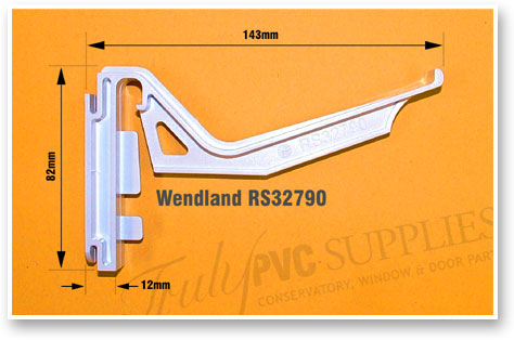 Wendland RS32790 Gutter Bracket Size Measurements