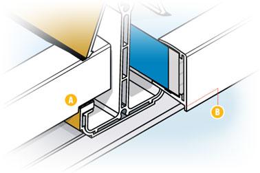 Remove the trim to help glazing sit on glazing bar gaskets