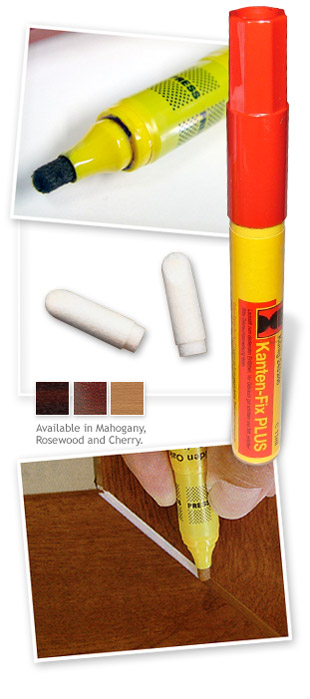 Konig Kanten-Fix PLUS Colour Edging Pens - Mahogany, Rosewood or Cherry