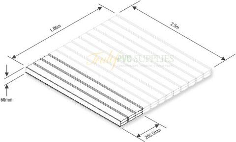 4 X 2 5m Everlite Roofing Panels Conservatory Carport
