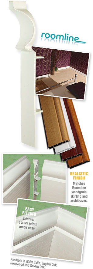 INTERNAL CORNER TRIM PVC SKIRTING BOARD JOINT UPVC 90° DEG