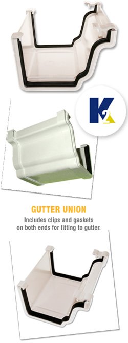 K2 C8035 Conservatory Gutter Union Ogee Upvc Connector