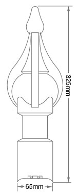 K2 Roof finial dimensions