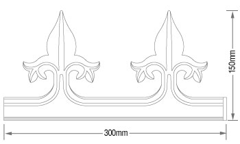 K2 C7018 Ornate Cresting dimensions