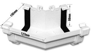 Eurocell External 135 176 External Ogee Gutter Corner Angle