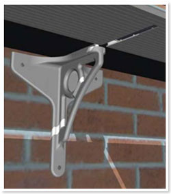 Ultraframe Gallows Bracket fixing example