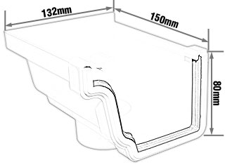 K2 C9187 9188 Gutter Stop End Outlet For Downpipe