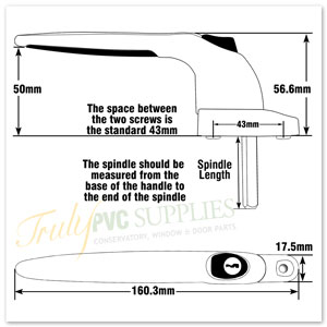 Trojan Sparta 2 Inline  Window Handle line drawing and diagram