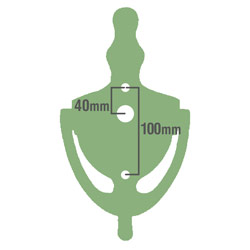 UAP Door knocker silhouette dimensions