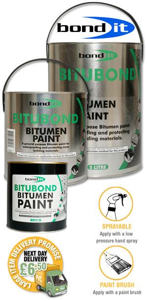 Bitumen Paint Waterproof Seal Repair Roof Leak Felt Wood