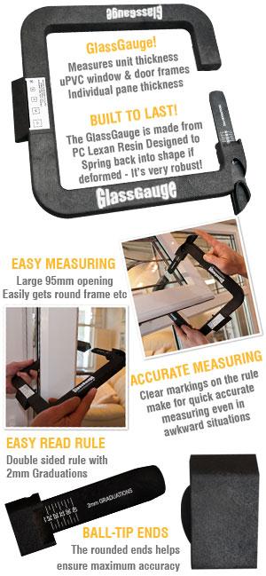 GlassGauge measures glass unit width