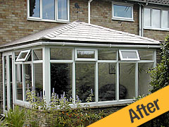 Tapco Slate Tiled Conservatory Roof after Solid Tile Roof Conversion
