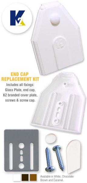 K roof spar end cap replacement kit for slipped