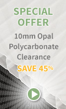 10mm Opal Polycarb Stock Clearance