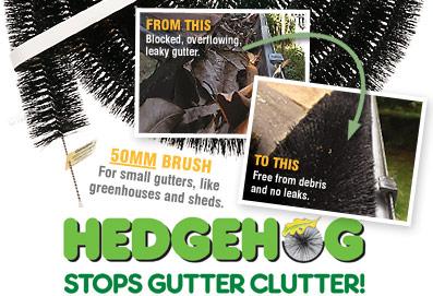 50mm 2 Quot Hedgehog Gutter Brush Guard For Small Gutters