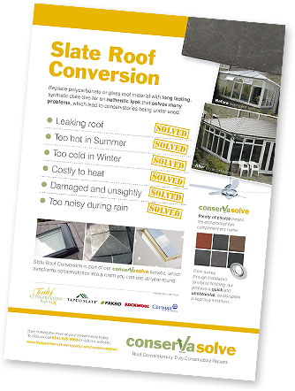Tapco warm Roof Slate Roof Conversion - Flyer
