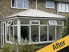 After Slate Roof Conversion - attractive, comfortable and watertight