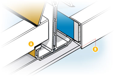 Remove the trim to help glazing sit on glazing bar gaskets
