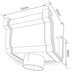 K2 C8036 Gutter Running Outlet sizes