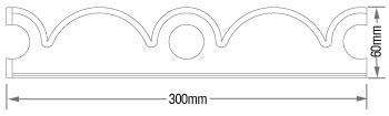 K2 C7013 Plain Cresting dimensions