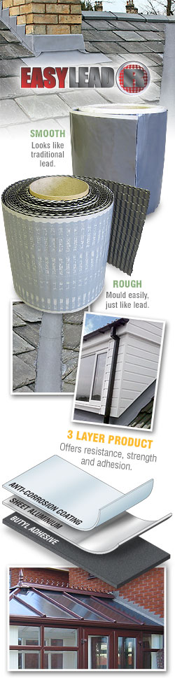 Easy Lead Flashing 5M Roll Flat / Pitched Tile Roof ...