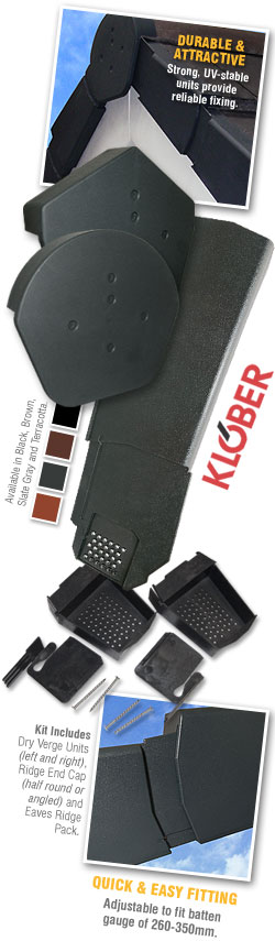 Klober Uni-Click Dry Verge System Unit