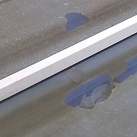 Replacement and repair of cracked Ultralite 500 conservatory roof panels